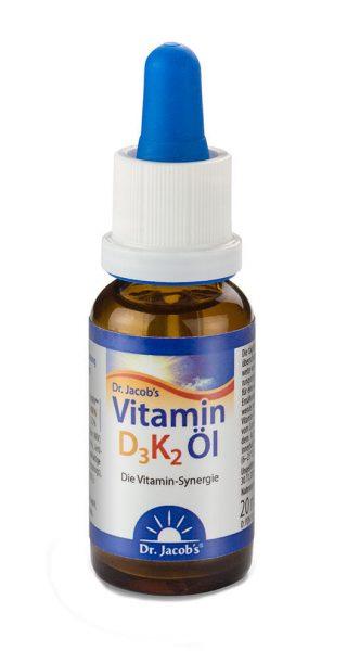 Vitamin D3K2 kapljice Dr. Jacob's